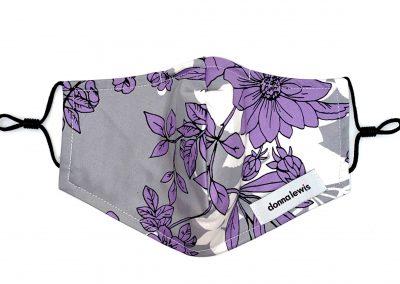 DL Main Batch - Gray Purple Flowers, Floral